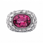 Pager to activate Burmese Spinel Cocktail Ring