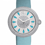 Pager to activate Brilliant Half Pave Icy Blue Sapphires 38mm