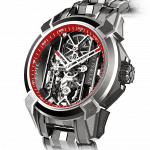 Pager to activate Epic X Titanium Bracelet (Red Neoralithe Inner Ring)