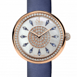 Pager to activate Brilliant One Row Rose Gold Blue Sapphires 38mm