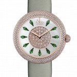 Pager to activate Brilliant Half Pave Rose Gold Tsavorites 38mm