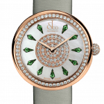 Pager to activate Brilliant One Row Rose Gold Tsavorites 44mm
