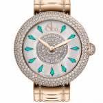 Pager to activate Brilliant Half Pave Rose Gold Couture Icy Blue Sapphires 38mm