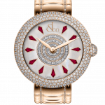 Pager to activate Brilliant Half Pave Rose Gold Couture Ruby 38mm