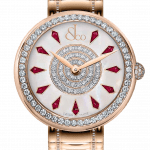 Pager to activate Brilliant One Row Rose Gold Couture Ruby 44mm