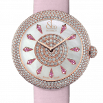 Pager to activate Brilliant Half Pave Rose Gold Pink Sapphires 44mm