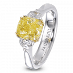 Pager to activate Cushion-Cut Diamond Solitaire