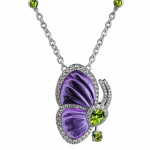 Pager to activate Amethyst Papillon Necklace