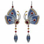 Pager to activate Blue Topaz Papillon Earrings