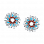 Pager to activate Infinia Pearl, Turquoise and Corals Earrings