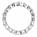 Pager to activate Round Briliant-Cut Eternity Band