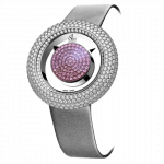 Pager to activate Brilliant Mystery Baguette Pave Diamonds And Pink Sapphires (38MM)