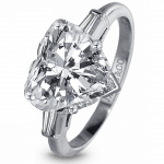 Pager to activate Heart-Shape Diamond Engagement Ring
