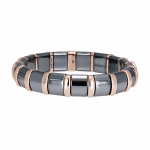 Pager to activate Hematite Bracelet 17 Rose Bars
