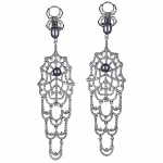 Pager to activate Black Plated Earrings with Black Pearls