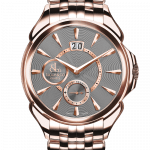 Pager to activate Palatial Classic Manual Big Date Rose Gold Bracelet