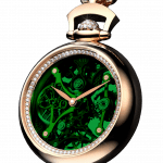 Pager to activate Brilliant Pocket Watch Pendant Green