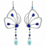 Pager to activate Blue Sapphire Papillon Earrings