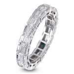 Pager to activate Baguette-Cut Eternity Band