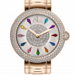 Pager to activate Brilliant Half Pave Rose Gold Couture 38mm