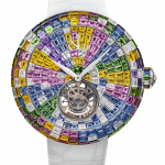 Pager to activate Brilliant Flying Tourbillon Arlequino Pastel White Dial