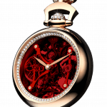 Pager to activate Brilliant Pocket Watch Pendant Red
