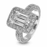 Pager to activate Edwardian Emerald-Cut Diamond Solitaire