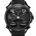 Pager to activate Palatial Five Time Zone Pirate Black PVD