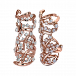 Pager to activate Rose Gold Carnivale Full Finger Ring