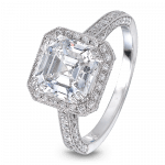 Pager to activate Square Emerald-Cut Solitaire