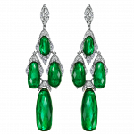Pager to activate Colombian Emerald Briolette Earrings
