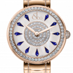 Pager to activate Brilliant One Row Rose Gold Couture Blue Sapphires 44mm