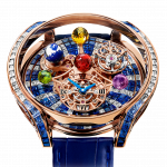 Pager to activate Astronomia Solar Baguette Diamonds And Blue Sapphires