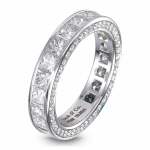 Pager to activate Princess-Cut Eternity Band