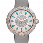 Pager to activate Brilliant Half Pave Rose Gold Icy Blue Sapphires 38mm