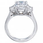 Pager to activate Emerald Cut Diamond Solitaire