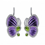 Pager to activate Amethyst Papillon Earrings