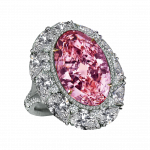 Pager to activate Pink Diamond Cocktail Ring