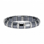 Pager to activate Hematite Bracelet 17 Stainless Steel Bars