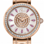 Pager to activate Brilliant One Row Rose Gold Couture Pink Sapphires 44mm