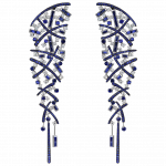 Pager to activate Sapphire Carnivale Earrings