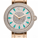 Pager to activate Brilliant Half Pave Rose Gold Couture Icy Blue Sapphires 44mm