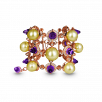 Pager to activate La Pearlina Golden Pearl and Amethyst Bracelet