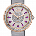 Pager to activate Brilliant One Row Rose Gold Amethyst Sapphires 44mm