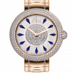 Pager to activate Brilliant Half Pave Rose Gold Couture Blue Sapphires 38mm