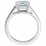 Pager to activate Square Emerald-Cut Diamond Solitaire