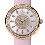 Pager to activate Brilliant One Row Rose Gold Pink Sapphires 44mm