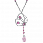 Pager to activate Papillon Necklace with Pink Tourmaline