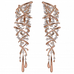 Pager to activate Rose Gold Carnivale Earrings
