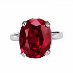 Pager to activate Solitaire Ruby Ring